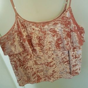 Willow & Clay Pink Crop Top Size L